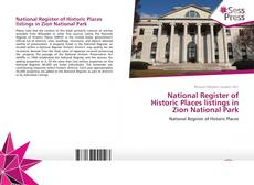 Обложка National Register of Historic Places listings in Zion National Park