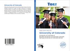 Bookcover of University of Colorado