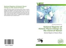 Bookcover of National Register of Historic Places listings on the island of Hawaii