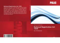 Bookcover of National Registration Act 1939