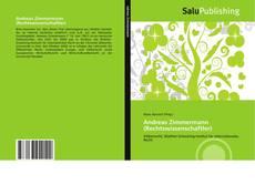 Bookcover of Andreas Zimmermann (Rechtswissenschaftler)