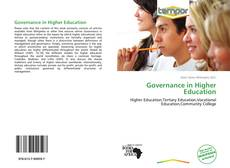 Couverture de Governance in Higher Education