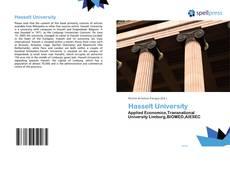 Bookcover of Hasselt University