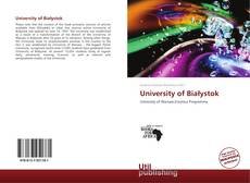 Bookcover of University of Białystok