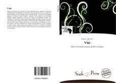 Capa do livro de Vini