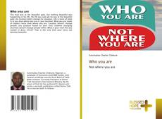 Couverture de Who you are