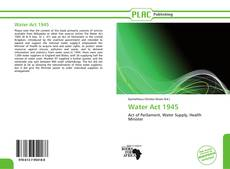 Bookcover of Water Act 1945