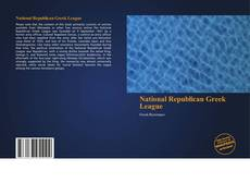 Bookcover of National Republican Greek League