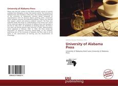 Bookcover of University of Alabama Press