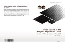 Penal system in the People's Republic of China kitap kapağı