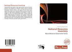 Bookcover of National Resources Inventory