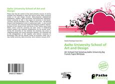 Capa do livro de Aalto University School of Art and Design