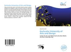 Buchcover von Karlsruhe University of Arts and Design