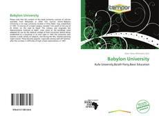 Bookcover of Babylon University