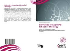 Bookcover of University of Auckland School of Theology
