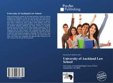 Bookcover of University of Auckland Law School