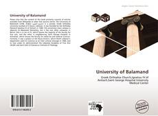 Bookcover of University of Balamand