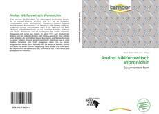 Capa do livro de Andrei Nikiforowitsch Woronichin