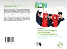 University of Bergen Department of Comparative Politics kitap kapağı