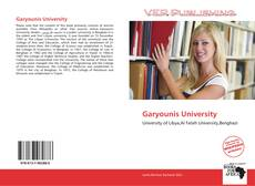 Bookcover of Garyounis University