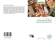 Capa do livro de University of Bihać
