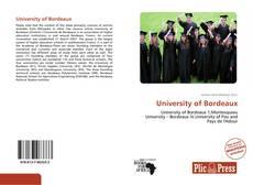 Обложка University of Bordeaux