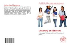 University of Botswana kitap kapağı