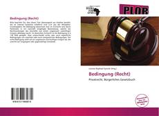 Buchcover von Bedingung (Recht)