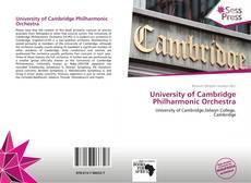 Copertina di University of Cambridge Philharmonic Orchestra