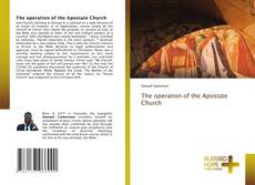 Copertina di The operation of the Apostate Church