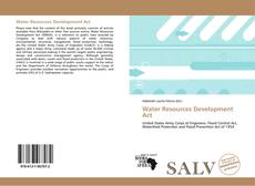 Bookcover of Water Resources Development Act