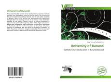 Bookcover of University of Burundi