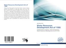 Bookcover of Water Resources Development Act of 1986
