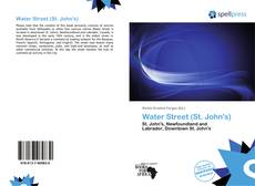Bookcover of Water Street (St. John's)