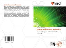 Bookcover of Water Resources Research