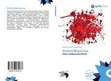 Andrej Mazanow kitap kapağı