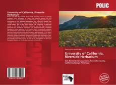 Bookcover of University of California, Riverside Herbarium