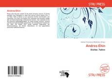 Buchcover von Andres Ehin