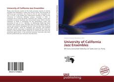 Portada del libro de University of California Jazz Ensembles