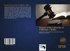 Copertina di Regents of the University of California v. Bakke