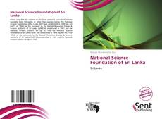 Buchcover von National Science Foundation of Sri Lanka