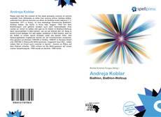 Buchcover von Andreja Koblar