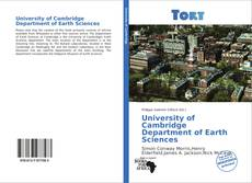 Bookcover of University of Cambridge Department of Earth Sciences
