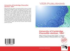 Bookcover of University of Cambridge Chancellor election, 1847