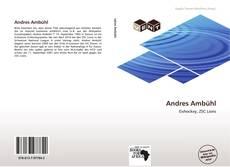 Portada del libro de Andres Ambühl