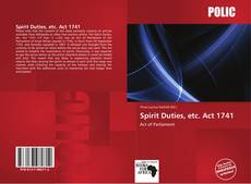 Portada del libro de Spirit Duties, etc. Act 1741