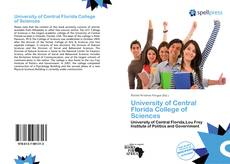 Bookcover of University of Central Florida College of Sciences