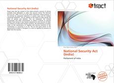 Portada del libro de National Security Act (India)