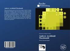 Bookcover of Andrew Archibald Macdonald