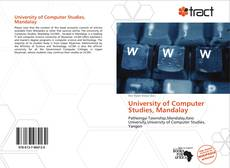Bookcover of University of Computer Studies, Mandalay